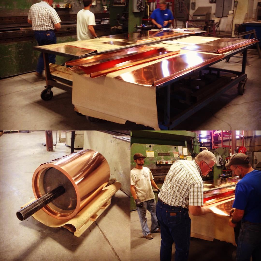 copper mockup panels