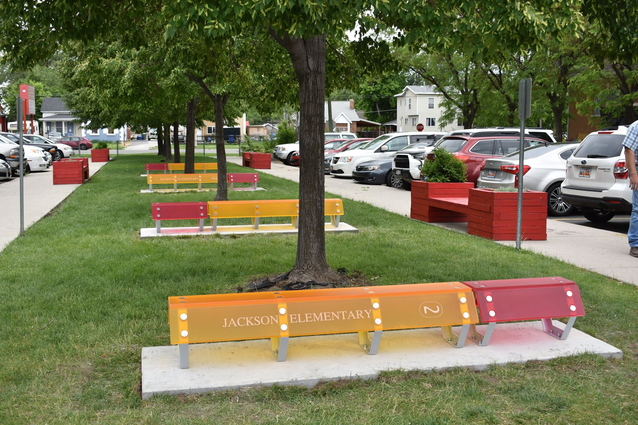 All Metals Fabrication Projects Metal Bench Jackson Elementary