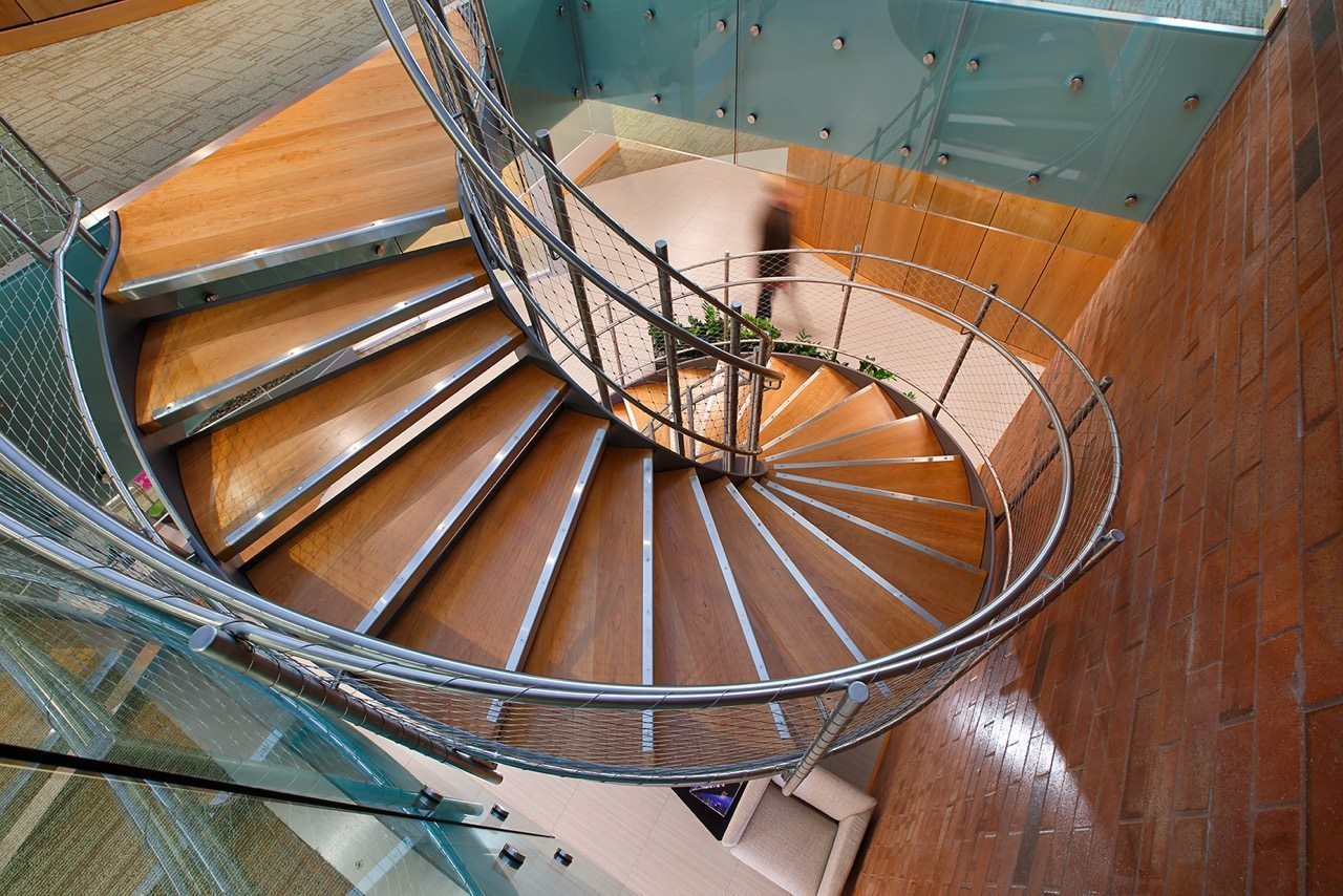 All Metals Fabrication Utah stainless steel spiral staircase