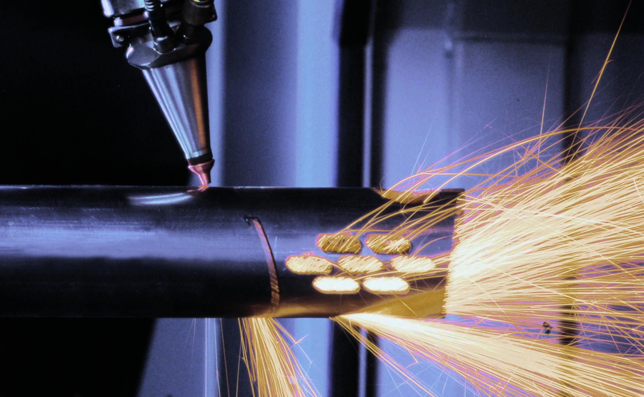 Tube laser cutting