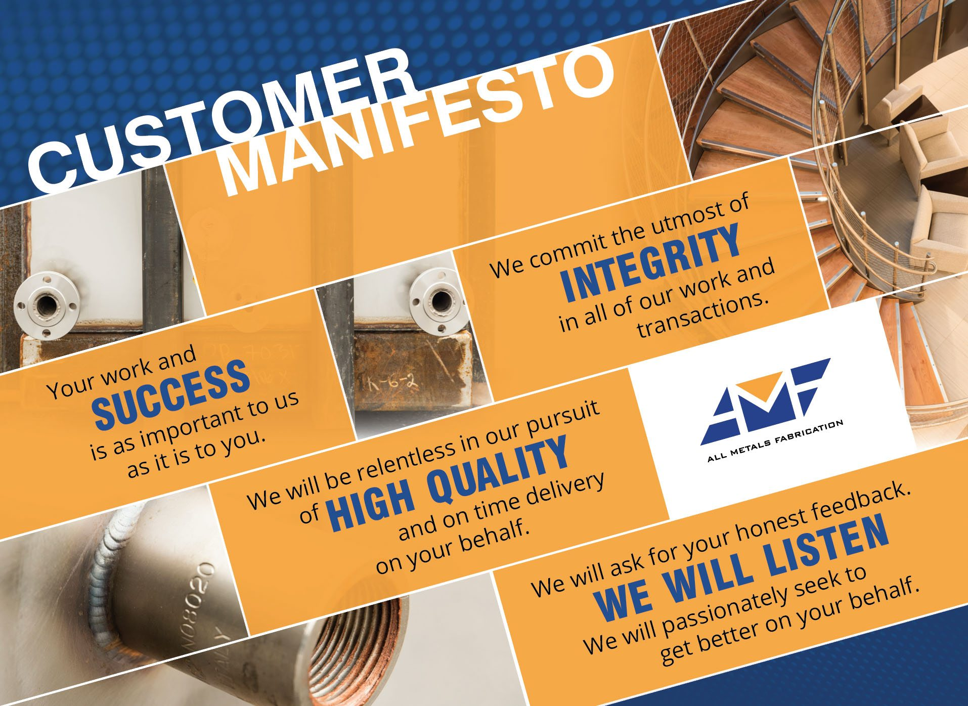 all metals fabrication customer manifesto
